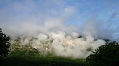 Col du Sapenay in de wolken