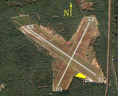 Luchtfoto van vliegterrein Malden
