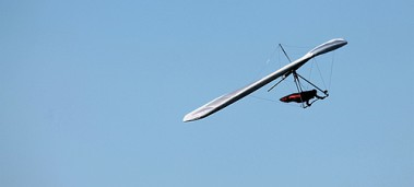 Deltavlieger Windee in vlucht - foto: Ellipse Delta
