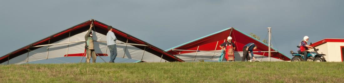 Leren deltavliegen Randonaero Adventures - oefenhelling Cond